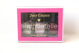 NEW Juicy Couture Set of 3 Deborah Lippmann Nail Polishes LILAC RED