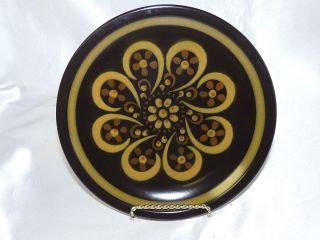 Mikasa Majorca Lodi Pattern Salad Plate 7 3 4 Brown Tan Yellow