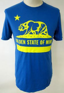 LOCAL CELEBRITY GOLDEN STATE OF MIND MENS TEE SHIRT CALIFORNIA FLAG