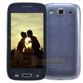 Unlocked 4 0 Dual Sim Touch Screen GSM Mobile Camera Cell Phone Blue