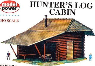 Model Power HO Scale Hunters Log Cabin Building Kit