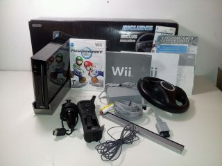 Nintendo RVLSKRP2 Wii Mario Kart Bundle Motion Plus Wheel
