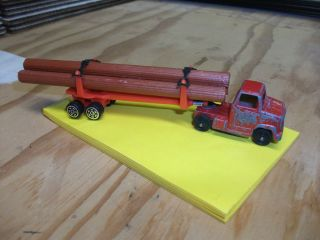 Toy Log Truck with Log Load Die Cast Metal