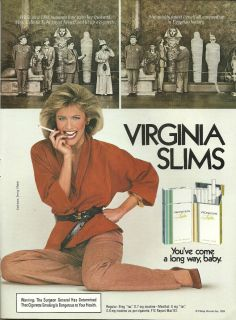 1984 Print Ad for Virginia Slims Cigarettes Youve Come A Long Way