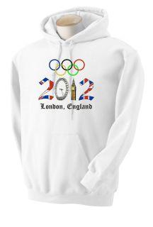 Olympic Hoodie and Sweatshirt London 2012 Shirts by Rock s M L XL 2XL