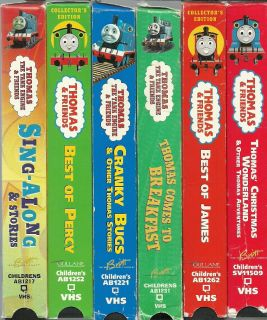 Lot of 6 Thomas The Tank Engine Friends VHS Video