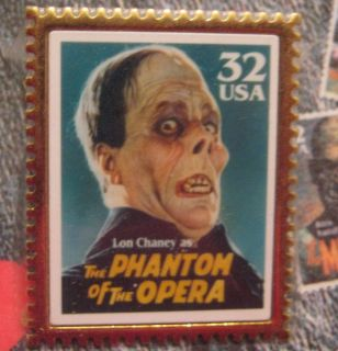 USPS Stamp 32¢ Lon Chaney Phantom of The Opera Lapel Pin NIP