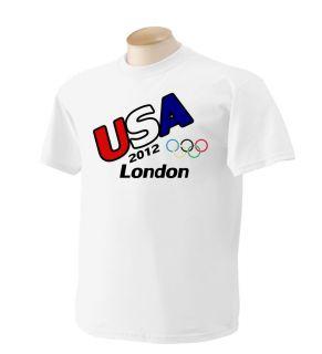 Olympic T Shirt USA London 2012 12 Shirts by Rock s M L XL 2XL Mens
