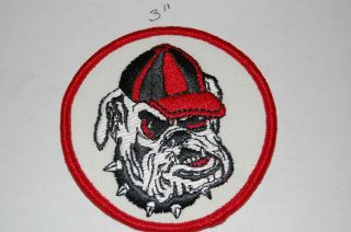 Georgia Bulldogs 3 Circular Logo Patch College