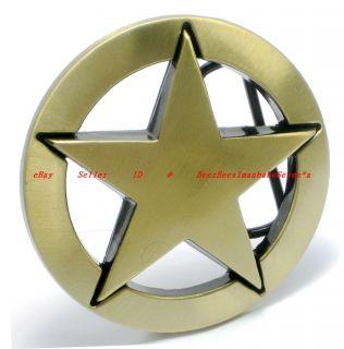 HBG1732J PENTAGRAM ROCK 5 POINT NAUTICAL STAR LONE STAR BADGE BRASS