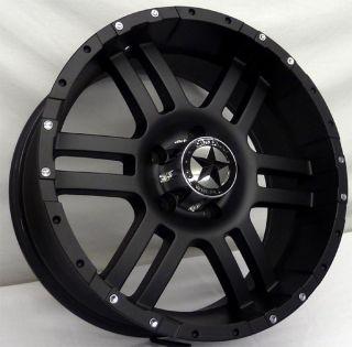 Lonestar Flat Black Wheels 20x9 Dodge Trucks 1500 Ram Matte Black 20