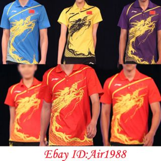 Lining 2012 London Olympic Li Ning Mens Table Tennis Shirt Sports