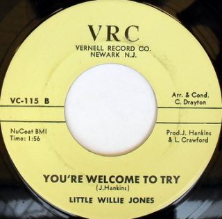 Little Willie Jones Youre Welcome to Try When Will I Stop Lovin You