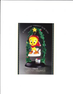 Goebel Looney Tunes Spotlight Postcard Tweety Bird Snowbird