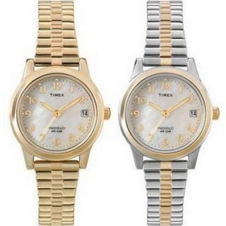 Timex Womens Watch Silver Tone Gold Tone Two Tone Expansion Band