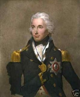 Art Portrait Oil Painting Admiral Lord Nelson 24x36inch
