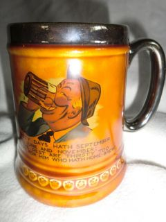Lord Nelson Pottery Beer Stein Mug England Thirsty Days