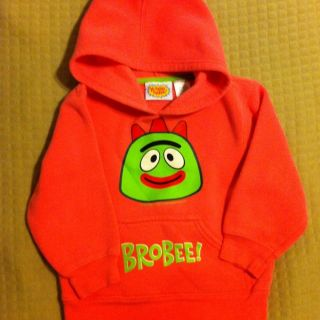 Yo Gabba Gabba Girls Hoodie Sweater Shirt 3T 3 Brobee