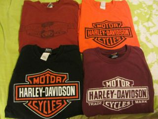 Davidson Mens LOT OF 4 L Large Lg Shirts San Fransico New Mexico LOOK