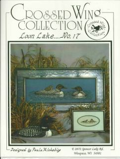 Loon Lake Counted Cross Stitch Pattern 2 designs NEW Crossed Wings