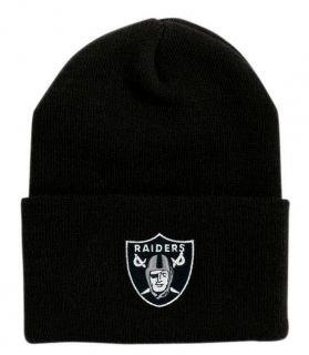 Los Angeles La Oakland Raiders Cuffed Adult Black Beanie New