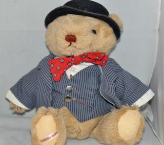 Lord Sterling Teddy Bear Gorham British Stuffed Animal Vintage