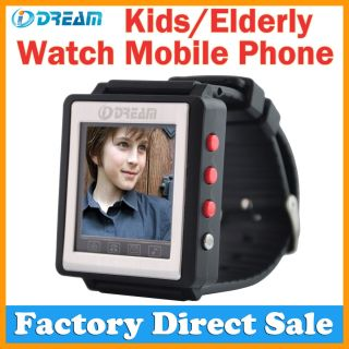 Unlocked GSM Watch Mobile Cell Phone Emergency Fast Dail for Kids