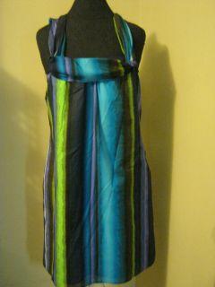 Lori Michaels Beautiful Striped Hippie Boho Style Dress LG