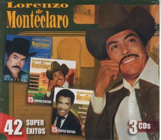 Lorenzo de Monteclaro CD New Super Exitos Box Set Con 42 Canciones