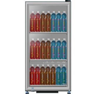 Compact Reach In Locking Glass Door Refrigerator, Beverage Display
