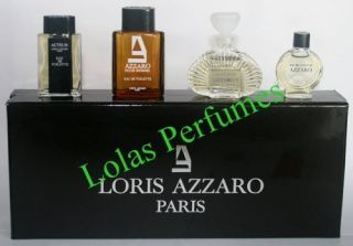 Loris Azzaro Paris The Collection 4 Mini Cologne Perfume Set stocking