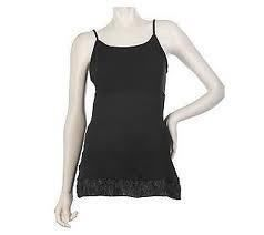 Logo by Lori Goldstein Fabz Layering Cami with Lace Trim A218595