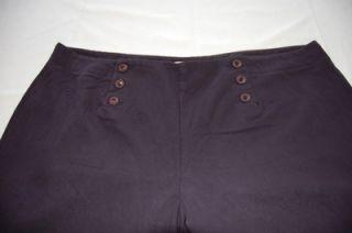 Lori Michaels Sailor Style Capri Pants Womens plus 22W Exclnt cond see