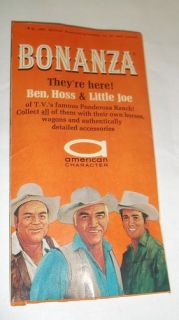 Vintage Catalog 1966 American Character Lorne Greene Complete
