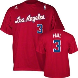 Los Angeles Clippers Chris Paul Red Jersey T Shirt Sz XXL