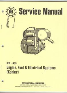 Service Manual Kohler Engine International Cub Cadet Tractor IHC