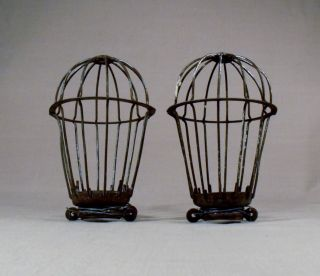 Antique Industrial Light Bulb Metal Cage Light Fixtures
