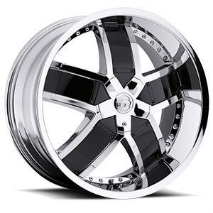 20 22 24 VCT Lombardi Chrome Black Wheels Chevy Impala Caprice Donks