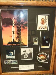 Lovells Autographed Gemini Apollo Collage