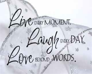 Home Decorating on Live Laugh Love Quote Print Home Picture Decor Wedding Buy 1 Get 1