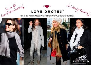 Love Quotes Linen Viscosa Scarf All Colors 1600mm