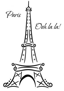 Eiffel Tower Paris Ooh La La Wall Deco Vinyl Decal wall art decoration