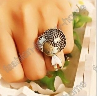 Fashion Lovely People Blue Pink Bowknot Ring