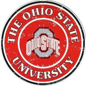 Ohio State University Buckeyes Licensed College Metal Round Sign 12