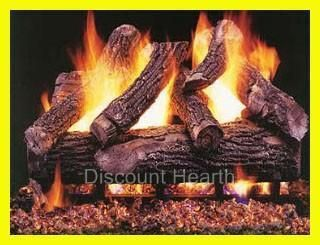 Vented Fireplace Gas Log Set Complete Set Up Liquid Propane LP