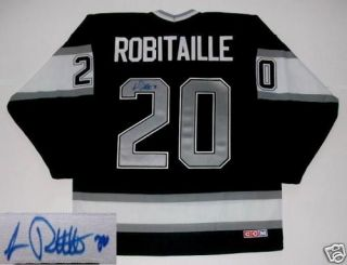 Luc Robitaille Signed Los Angeles Kings 93 Cup Jersey