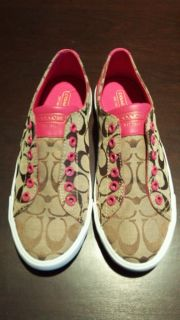 Coach Lucey Shoes Brown Pink A1789 Womens Size 9 New
