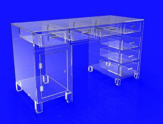 Clear Acrylic Plexiglass Desk Hotel Lobby Boutique