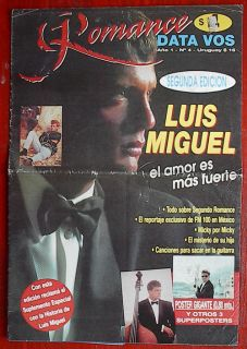 Luis Miguel Magazine Double Poster Little Magazine 1994