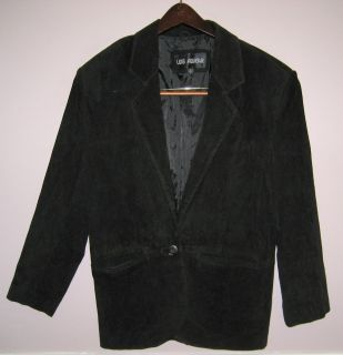 Womens Luis Alvear Black Suede Leather Jacket Size P